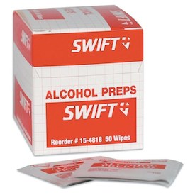 ALCOHOL WIPES 50BX